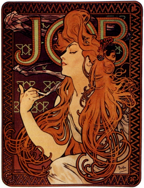 job cigarettes ad Alphonse Mucha