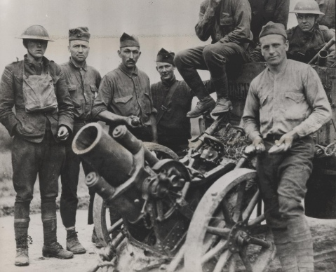 A German trench mortar—Minnenwerfer—captured at the Battle of Belleau Wood by the US Marines 2nd Battalion, 5th Regiment while under the command of Col. Frederic M. Wise.