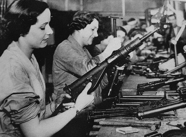 Most wartime STEN guns were built by female British factory workers
