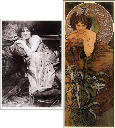 The model and final artwork for a 1903 illustration