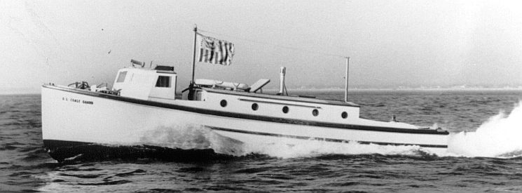 A 38 foot cabin picket in their peacetime livery.USCG Photo