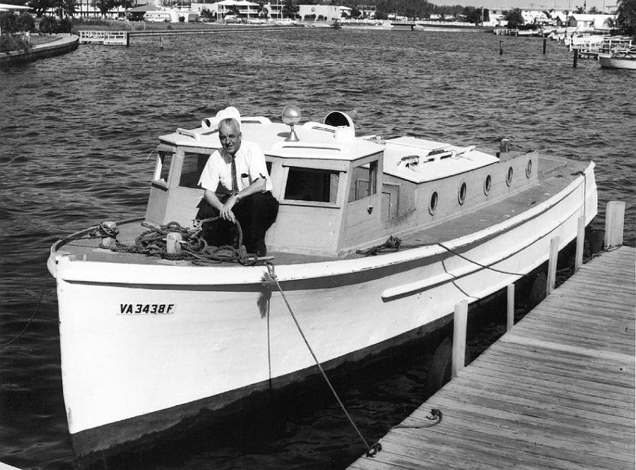 A retired picket used as a personal yacht in Virginia 1960s