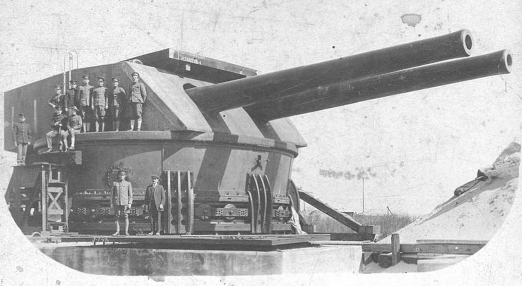 The M1909 mount being tested at Sandy Hook Proving Ground, New Jersey before shipment to the PI. Only two of these mounts were ever constructed and, to the credit of the Army, are both still in existence despite an epic trial by combat.