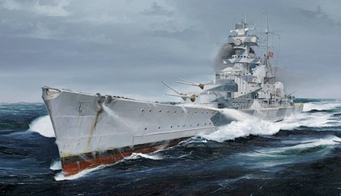 Admiral Hipper cover art for Trumpeter model set
