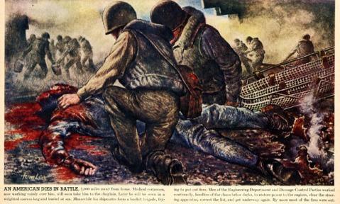an american dies in battle tom lea