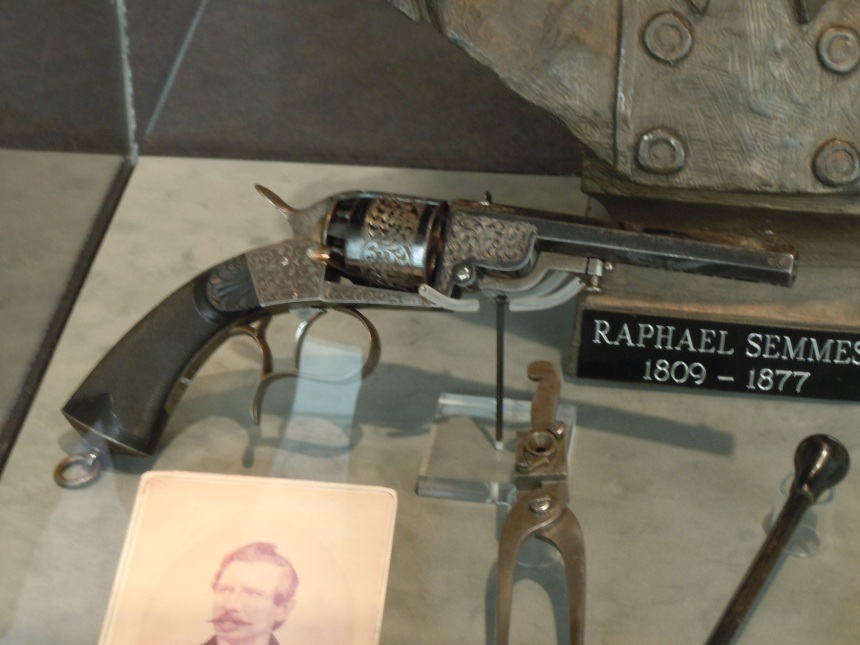 Semmes LeMat grapeshot revolver at the City of Mobile Museum. Chris Eger photo. Click to big up.