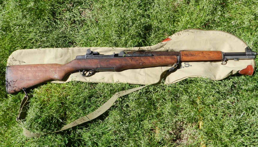 Author's 1943-made WWII-era (real) Springfield Armory M-1 Garand. Click to drink in the walnut and steel goodness in high rez!