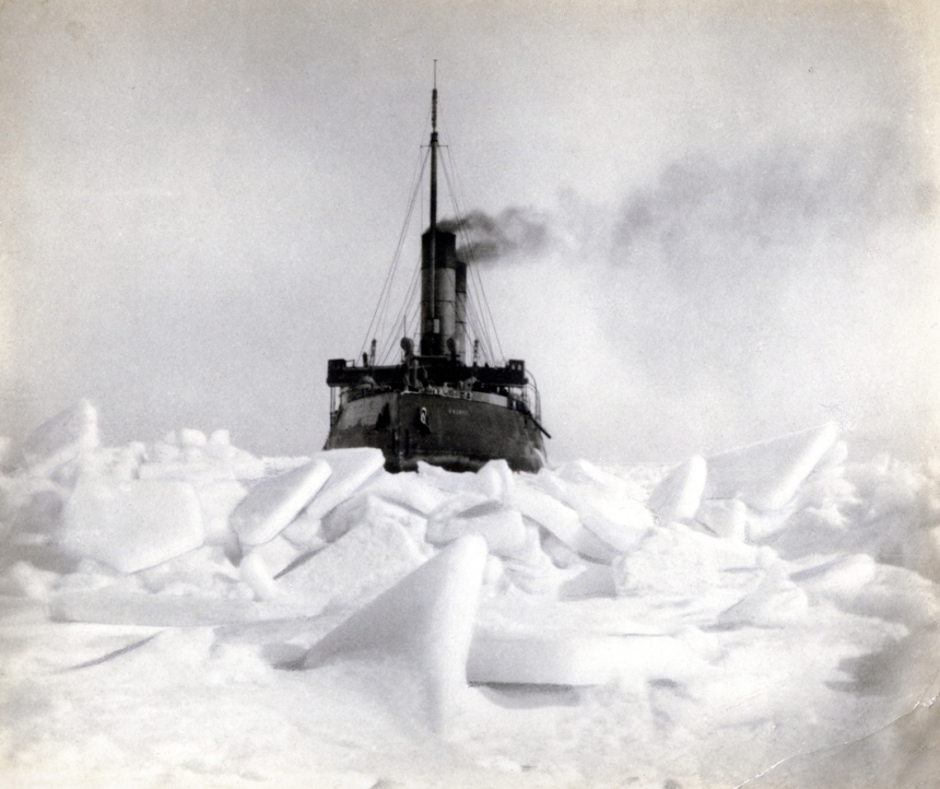 Yermak in heavy sea ice