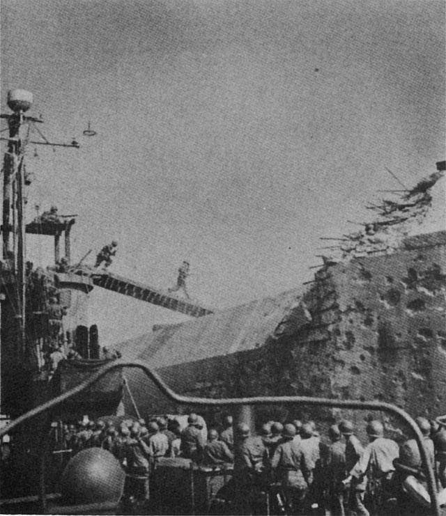 US Army landing on Drum