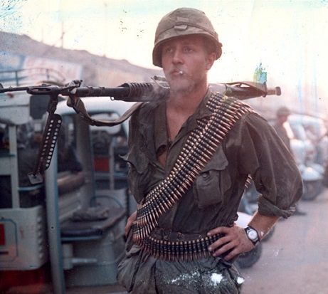 M60 machine gunner of the 25th Infantry Division, 1968