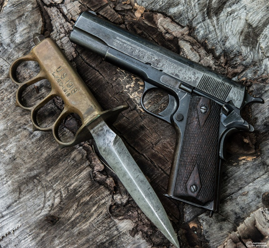 remingtn 1911 with knuckleduster1918