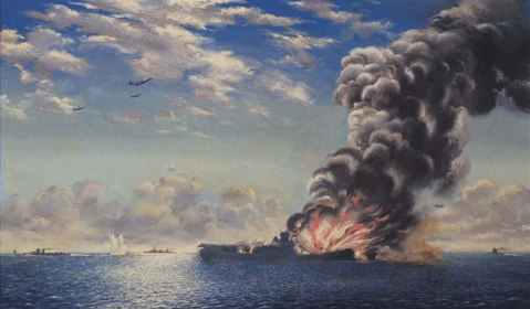 He observed the sinking of the Wasp on Sept. 15, 1942