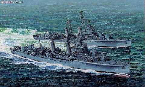 U.S.Navy Benson class Destroyers U.S.S Laffey  and U.S.S Woodworth. Dragon model box art.