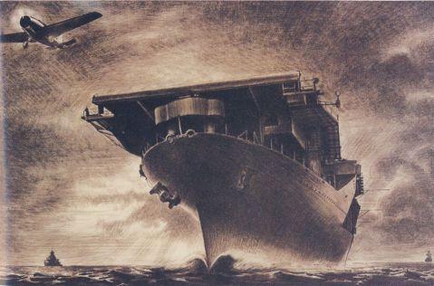 USS Hornet by Tom Lea