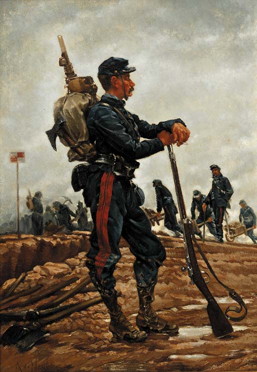 A French Military Engineer by Alphonse Marie Adolphe de Neuville