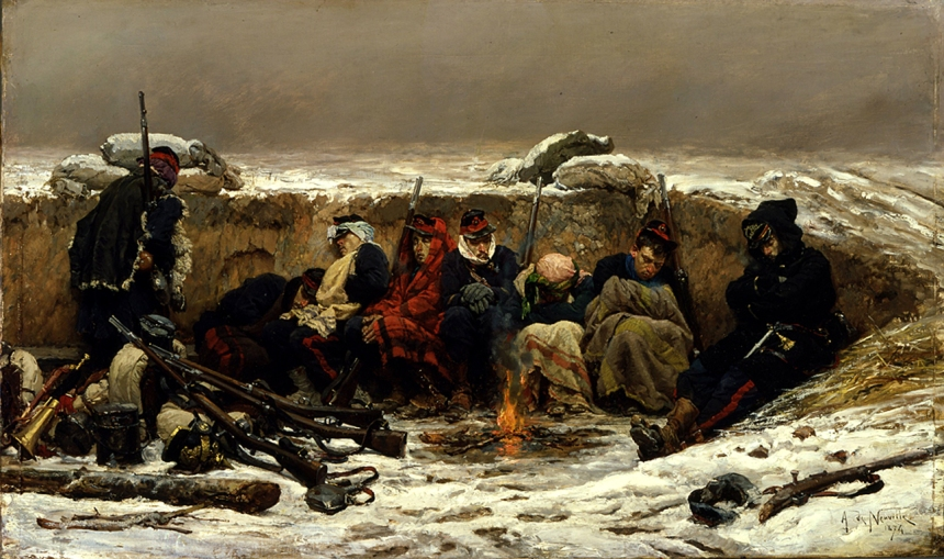 Alphonse de Neuville - In the Trenches