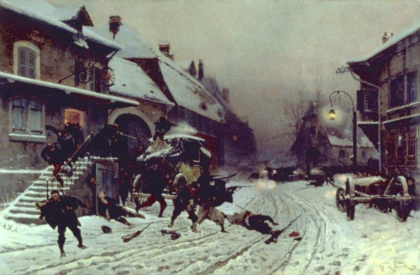 Alphonse de Neuville - The Attack at Dawn