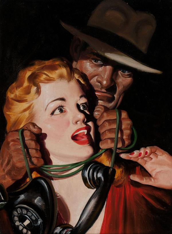Black Mask, September 1944; cover art by Rafael DeSoto