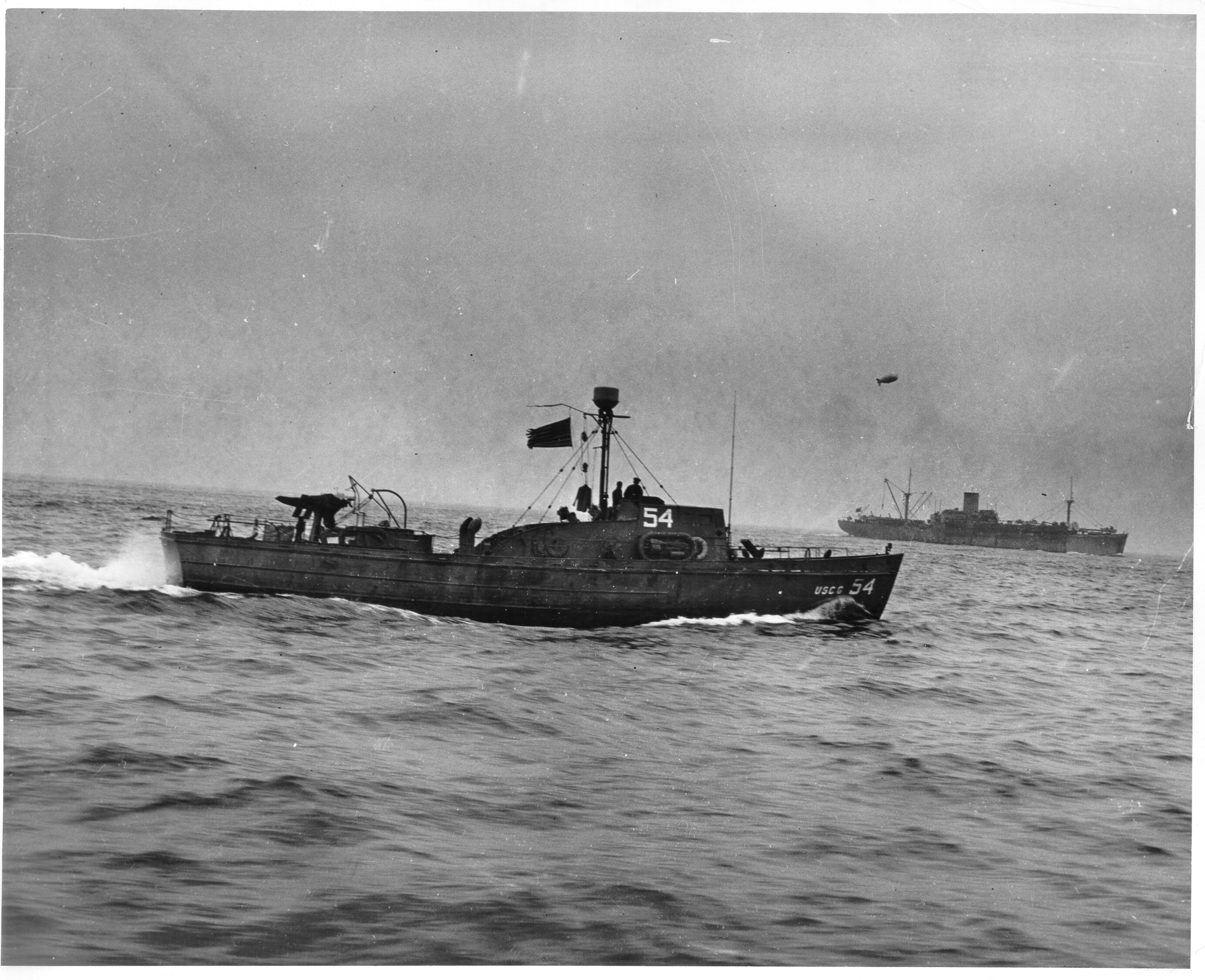 83 foot patrol boat CG-624, later renamed CG-14 as part of Rescue Flotilla One, Normandy