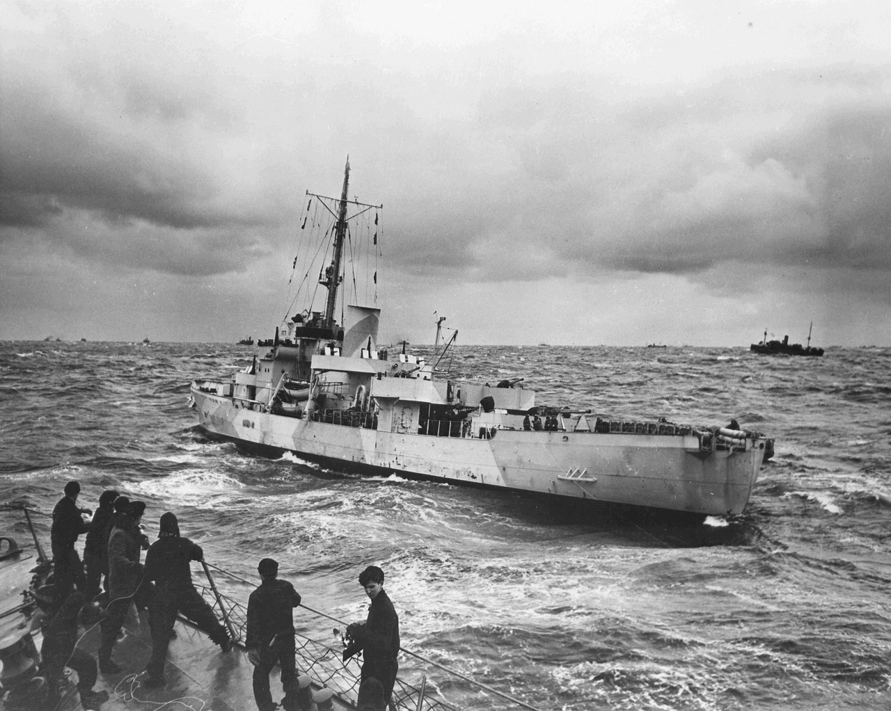 Coast Guard cutter USS Spencer on convoy duty in the North Atlantic, March 1943