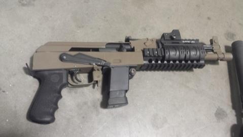 The Kalashnacon custom Glock AK pistol