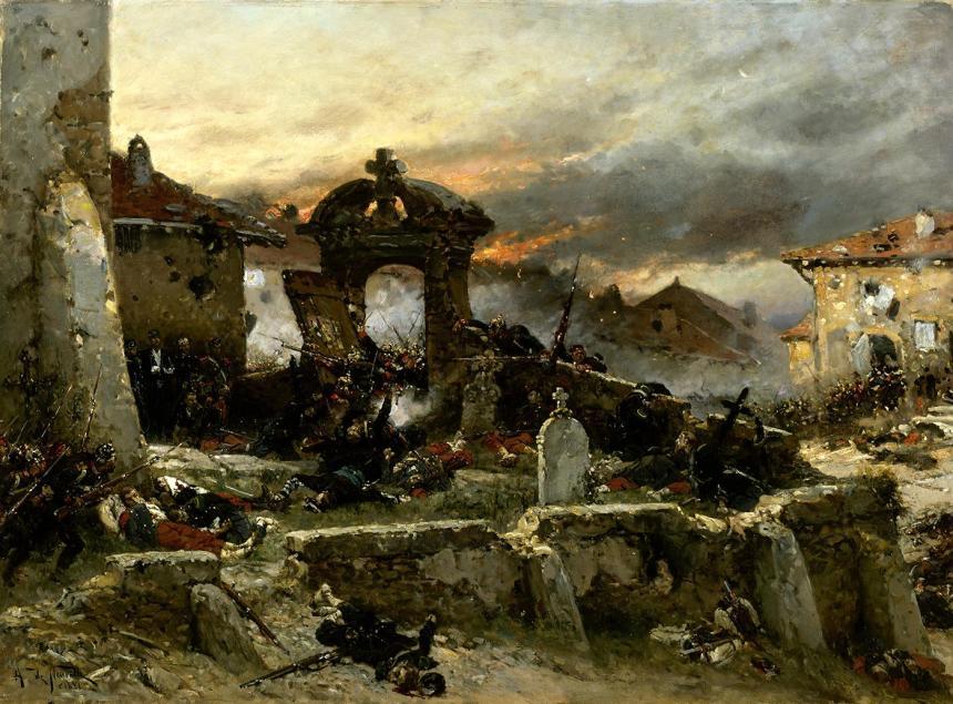 Le cimetière de Saint-Privat, le 18 août 1870.