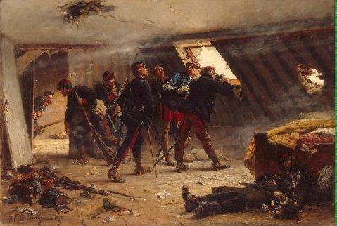 Neuville_Alphonse_Marie_de-ZZZ-An_Episode_from_the_Franco-Russian_War_(The_Garret_in_Champigny_in_November_1870)
