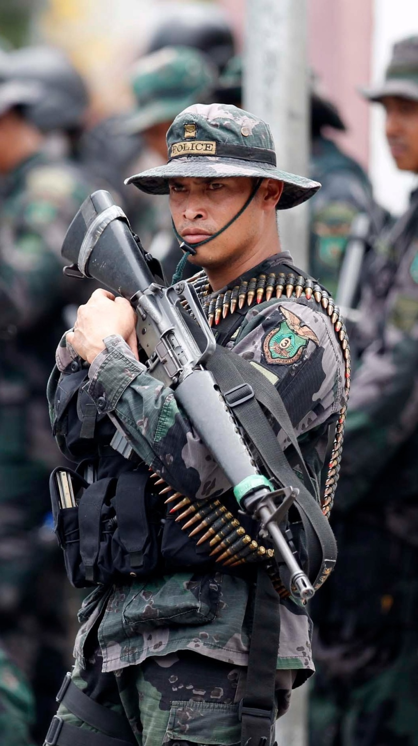 phillipines special police with m16a1 in 2015 m-16
