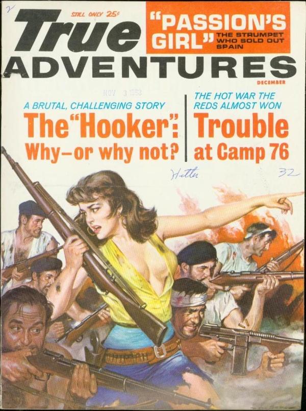 True Adventures cover, Dec 1963 by Rafael DeSoto
