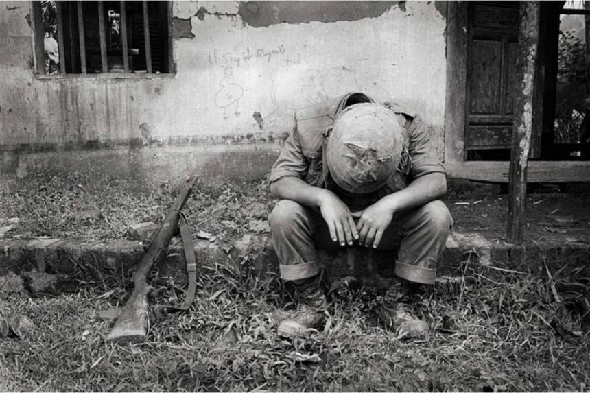 Universal Soldier by Tim Page  showing a ROK marine in vietnam after combat. Note the M1 Garand, the South Koreans have over 87,000 of these in arsenal storage that they have been trying to sell to a U.S. importer since 2009