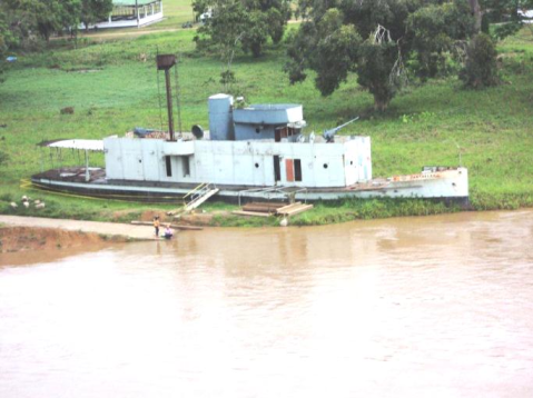 ARC Cartagena river gunboat (Canonero fluvial), commisoned in 1929 and participant in the war against Peru in 1932 decommissioned in 1986c