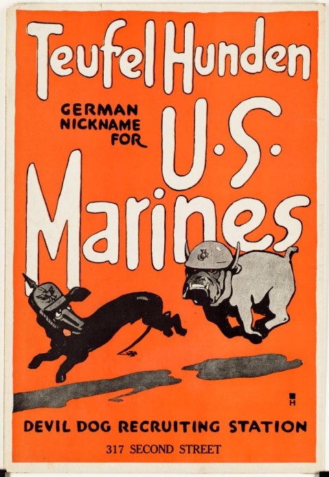 devil dog marine poster