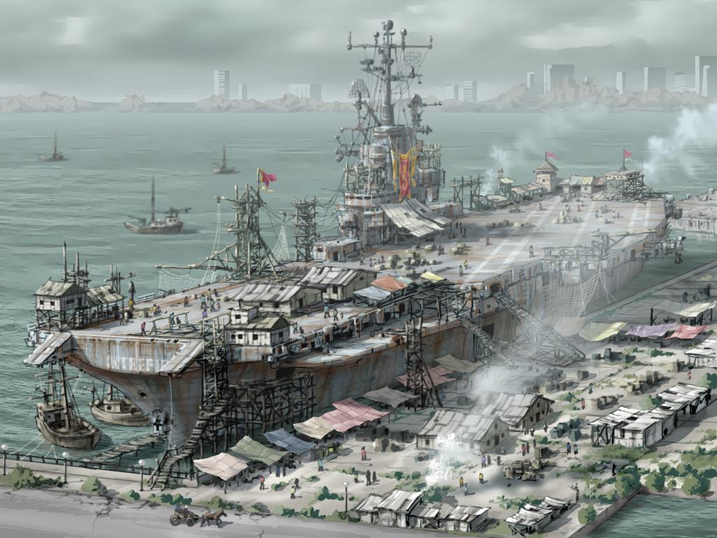 Post Apocalyptic Ship Laststandonzombieisland