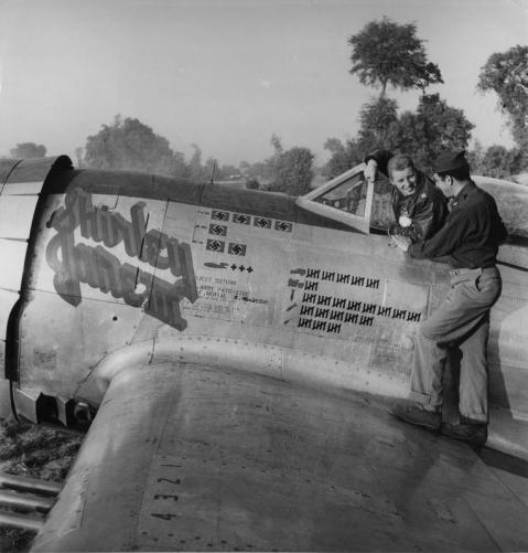 P-47D-27-RE Thunderbolt #42-26919 362nd fighter group 377 fighter squadron FTR October 26 1944