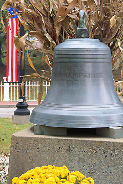 Her bell is preserved at Portsmouth. Image by Jim Cerny