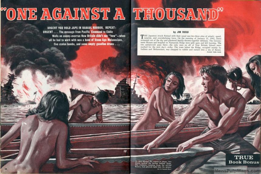 STAG, June 1964, artwork by Mort Kunstler