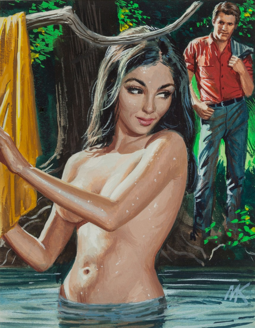 Swamp Girl, Male magazine cover, May 1969 mort