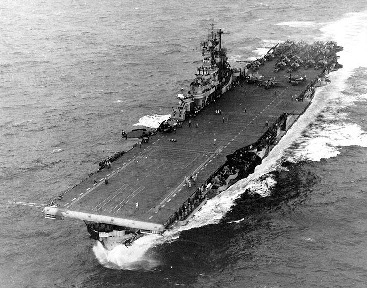USS Intrepid in the Philippine Sea, November 1944
