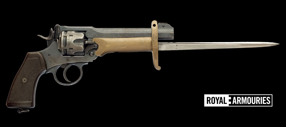 The Webley with the 1915-era Pritchard-Greener Revolver Bayonet