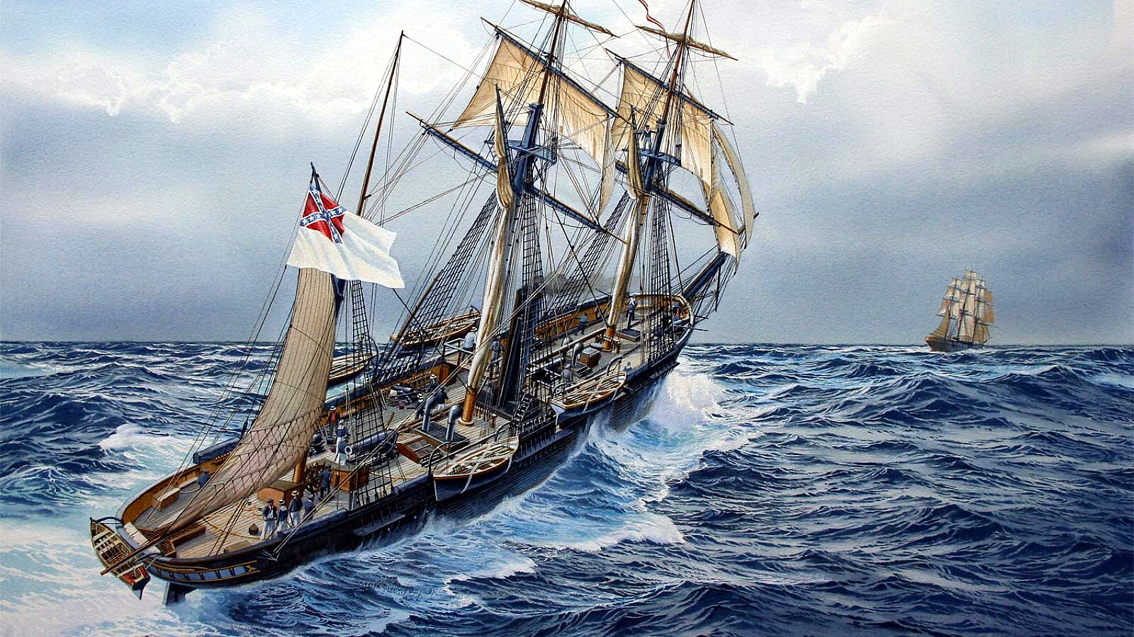 You Can Run, CSS Alabama chases down Yankee clipper.