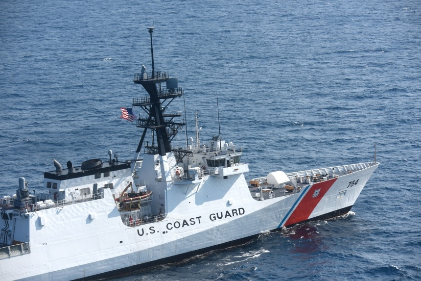 Coast Guard Cutter James overflight