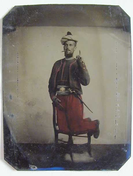An unknown private, supposedly with the 114th Pennsylvania (Collis Zouaves)