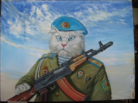 And of course, a glorious Red Army airborne forces paratrooper with his AK-74