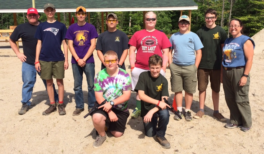 Venture Scouts, aged 14 and up, are using suppressor-equipped Smith and Wesson 22s in their pistol course. (Photo: Gemtech)