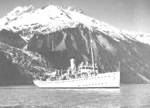 USCGC_Tallapoosa 1935 In Alaskan waters