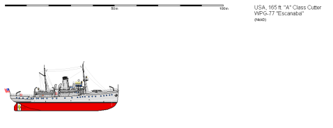 Profile of the 165 A class Cutter Escanaba, who was based on Tallapoosa and Ossipee. Image by Shipbucket http://www.shipbucket.com/images.php?dir=Real%20Designs/United%20States%20of%20America/WPG-77%20Escanaba.png