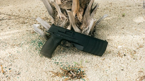 No, thats not a holster on the end of that SW M&P