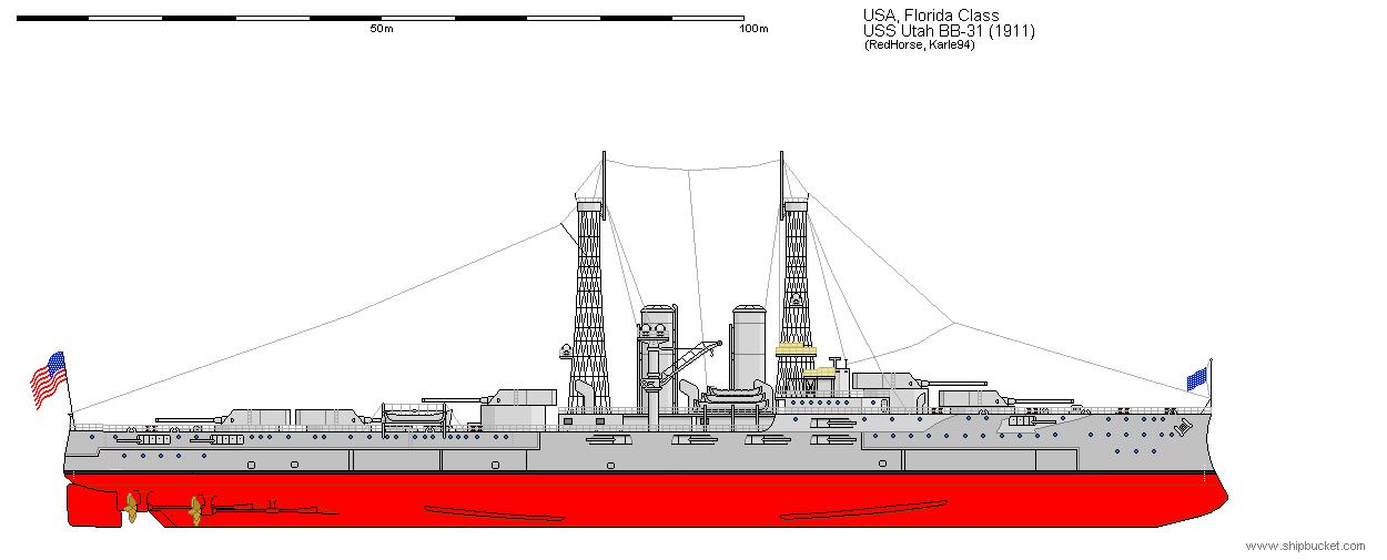 1911 Via ship bucket http://www.shipbucket.com/Real%20Designs/United%20States%20of%20America/BB-31%20Utah%201911.png