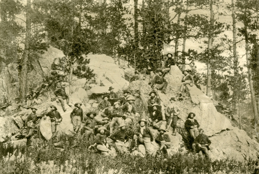 5th U.S. Cavalry, the Black HIlls, 1877, photo by 2Lt. WC Brown