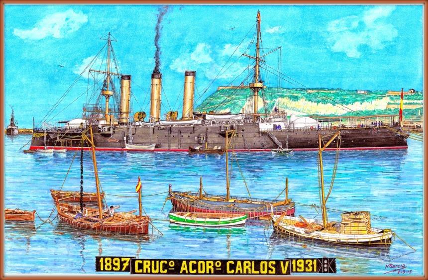 CRUCERO ACORAZADO CARLOS V by Manuel García García